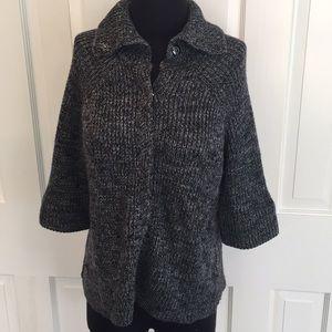 BCBG Wool Blend Snap Sweater
